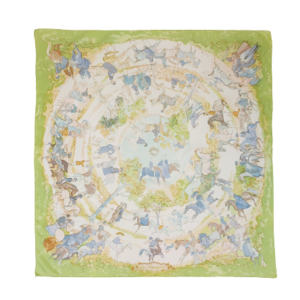 Hermes Les Amazones silk scarf