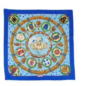 Emblemes de L Europe silk scarf