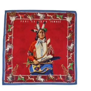 Hermes Pani La Shar Pawnee silk scarf