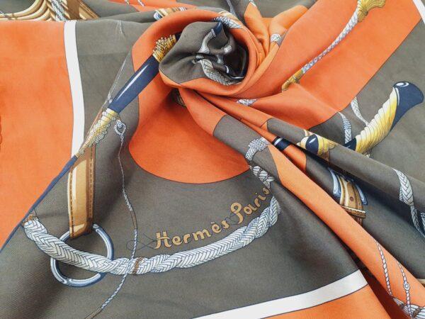 Hermès Clic Clac silk scarf