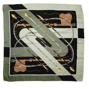 Hermes Clic Clac silk scarf
