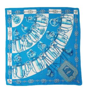 Hermes Cliquetis silk scarf
