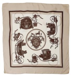 Hermes Ex Libris silk scarf