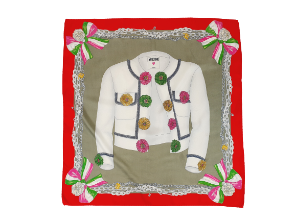 Moschino designer scarf