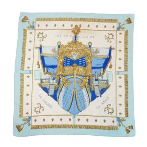 Hermes Vue de garosse silk scarf