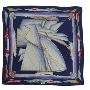Hermes Vent Portant silk scarf
