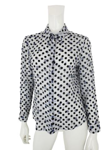 Miu Miu silk polkadot blouse