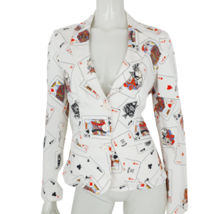 Moschino Jeans Playing Cards Blazer