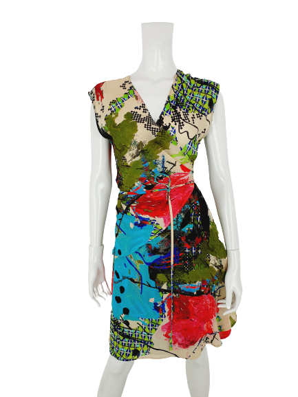 Christian Lacroix silk wrap dress