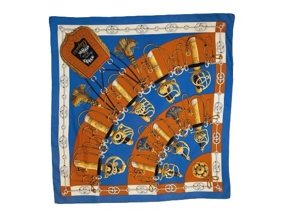 Hermès Cliquetis silk scarf