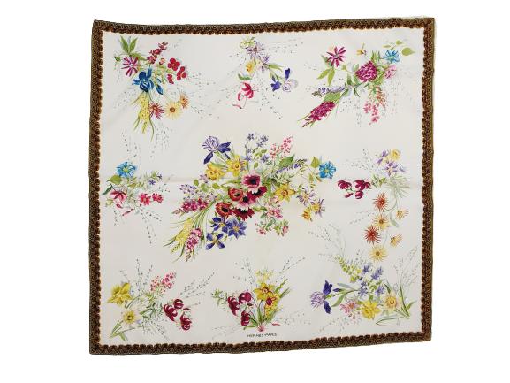 "Hermes silk scarf ""fleur et galons"""