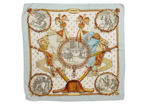 "hermes silk scarf ""napoleon"""