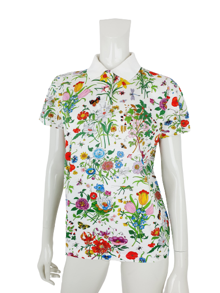 Gucci flower insect polo