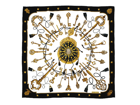 Hermes silk scarf Les Clefs