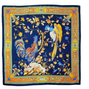 Hermes silk scarf Chanteclair