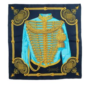 Hermès Brandenbourg silk scarf
