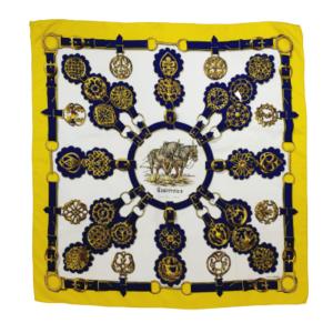Hermes silk scarf Cuivreries