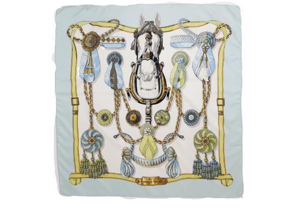 hermes silk sjaal frontaux et cocarde