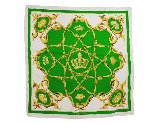 Hermès silk scarf Couronnes