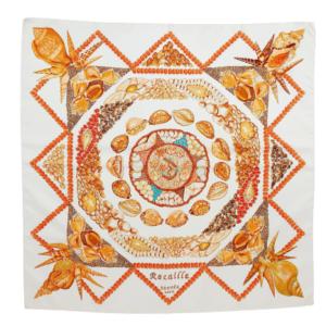 Hermès Rocaille silk scarf