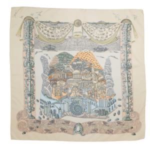 hermés l'antlantide silk scarf