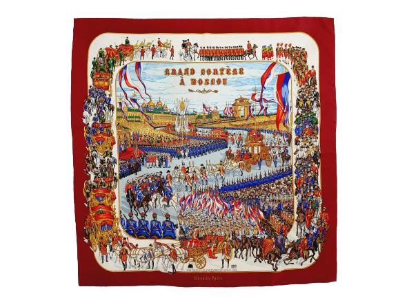 Hermes scarf grand cortege a Moscou