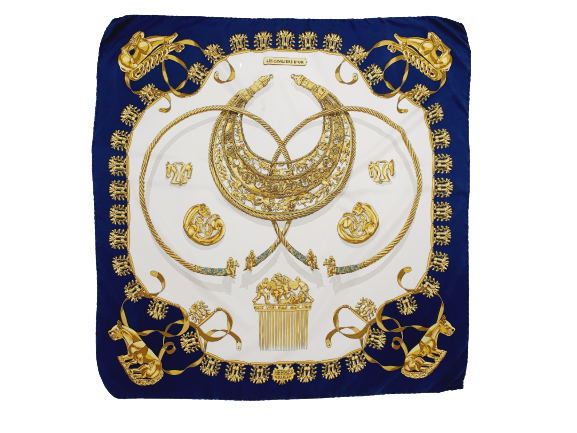 "Hermes scarf 'les cavalier d'or """
