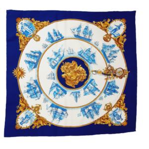 Hermes Silk scarf Silhouettes Navales