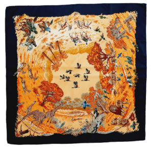 Hermès Africa silk scarf