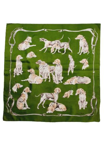 hermes chiens de meute scarf