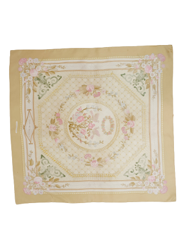 hermès silk scarf jeux de paille