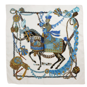 Hermès silk scarf le Timbalier