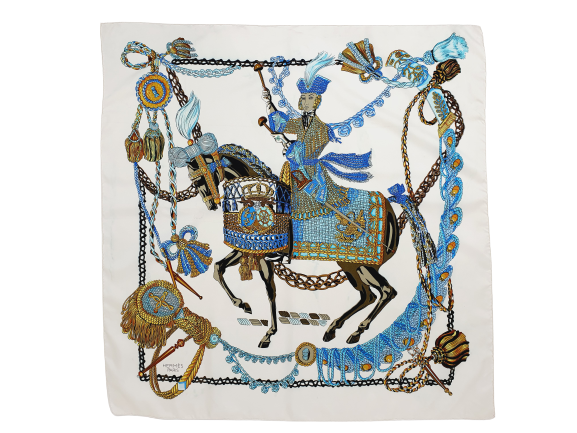 hermès silk scarf 'le timbalier'