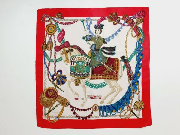 hermes silk scarf le timbalier