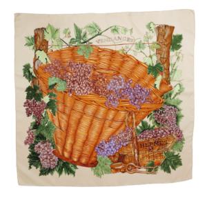Hermès silkscarf vendanges